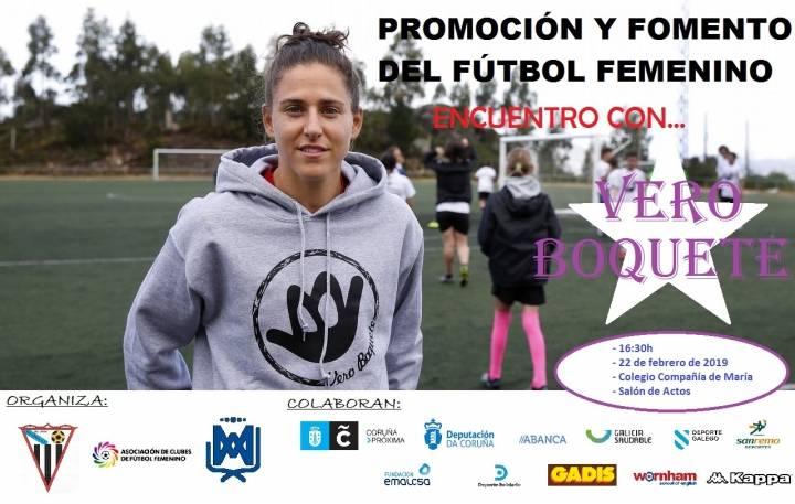 CONFERENCIA DE LA FUTBOLISTA INTERNACIONAL ESPAÑOLA VERO BOQUETE