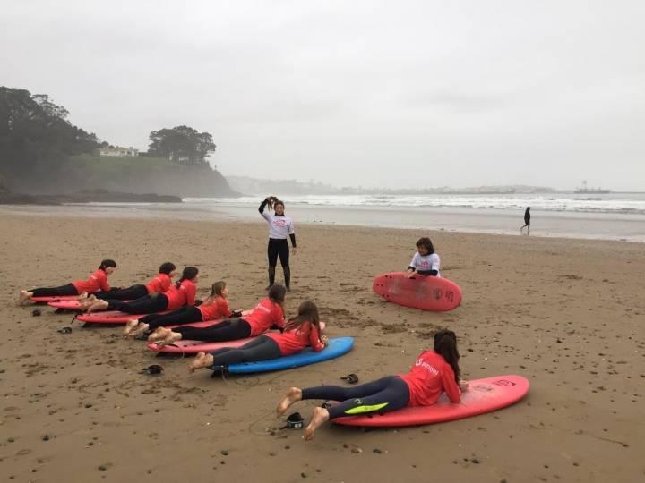 INICIO DE LA ACTIVIDAD DE SURF