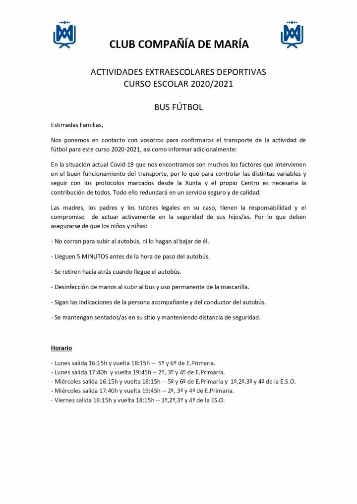 CIRCULAR BUS ACTIVIDAD DE FUTBOL